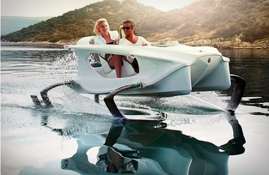 Meet Quadrofoil! Electric personal watercraft with hydrofoil.