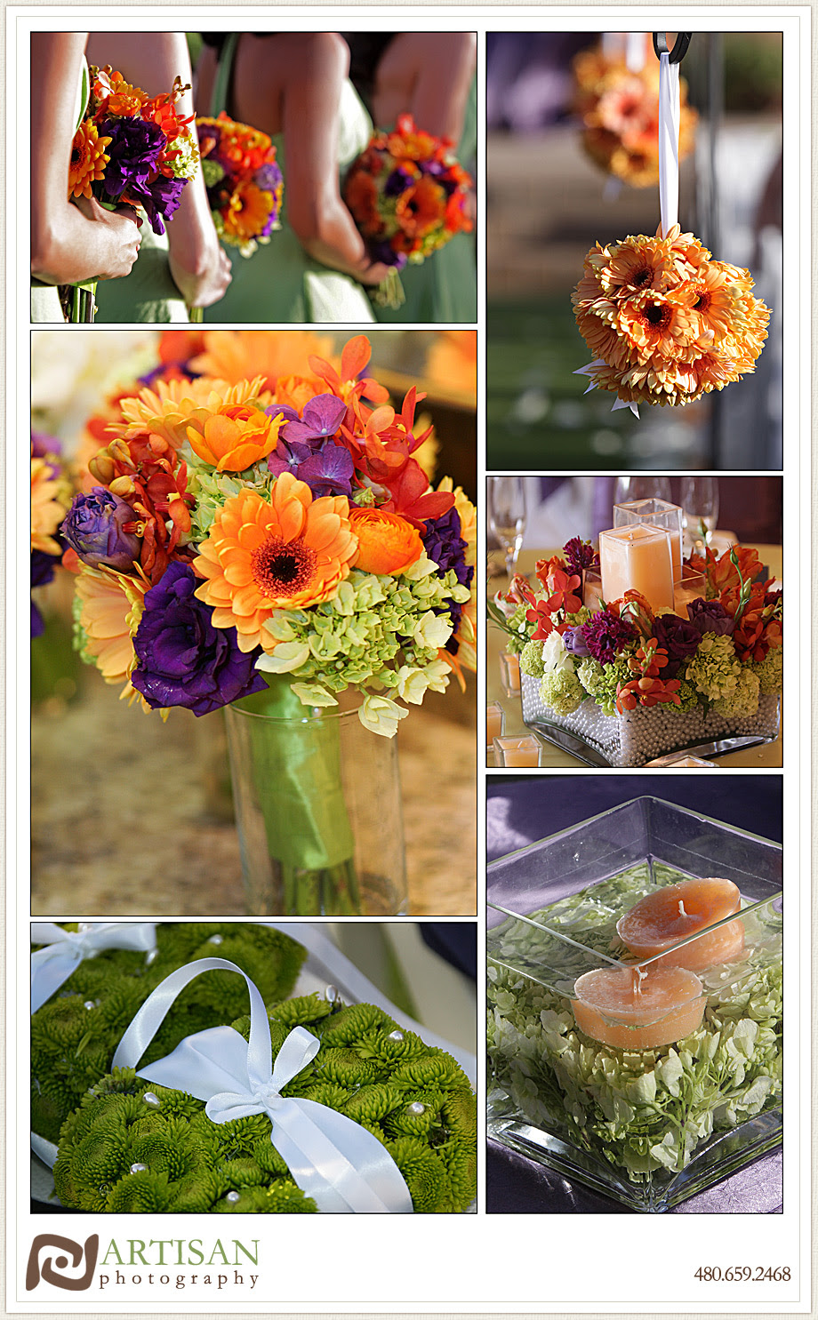 Need Some Ideas For Purple Orange Wedding