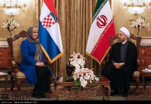 President #Kitarovic: #Croatia supports #Iran's role in region   #IranDeal