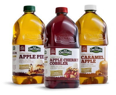 Old Orchard Brands Turns Celebrated Seasonal Treats  into New Line of Juice Beverages, Including Apple Pie, Caramel Apple and Apple Cherry Cobbler