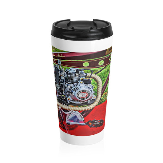 Indian Motorcycle Bicycle Motor Stainless Steel Travel Mug