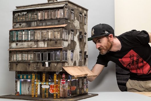 Grime in 1:20 Scale: Gritty Dollhouse-Sized Urban Architectural Models