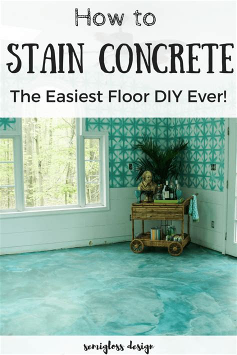 beginners guide  diy stained concrete  step