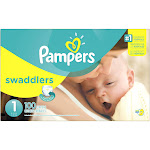 Pampers Swaddlers Diapers, Size 1 (8 - 14 lbs) - 100 pack