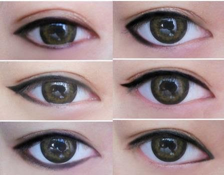 the way you apply liner can really change the shape of your eyes.. and your whole look!