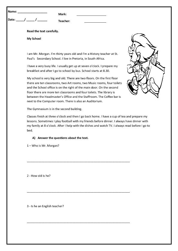 Present Simple Through Reading Worksheet