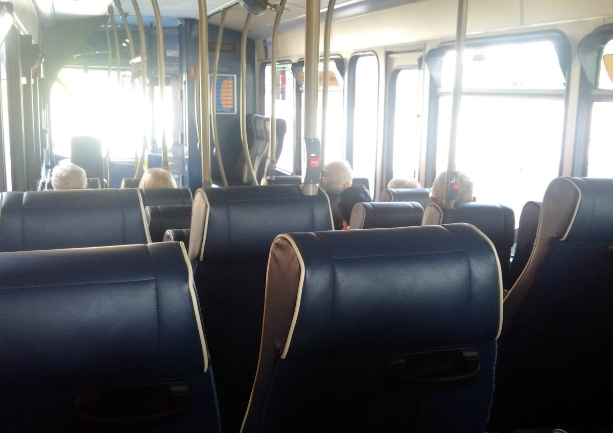 Inside of Stagecoach Gold Bus