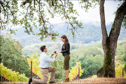 Marriage Proposal Photography at Buehler Vineyards in St. Helena {Jaclyn+Richard} | Christophe Genty Photography Blog