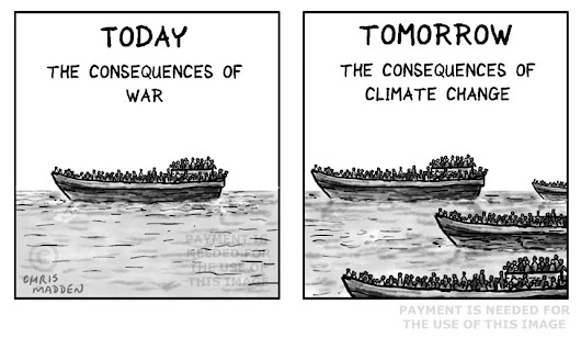 Image: Cartoon – climate change refugees
