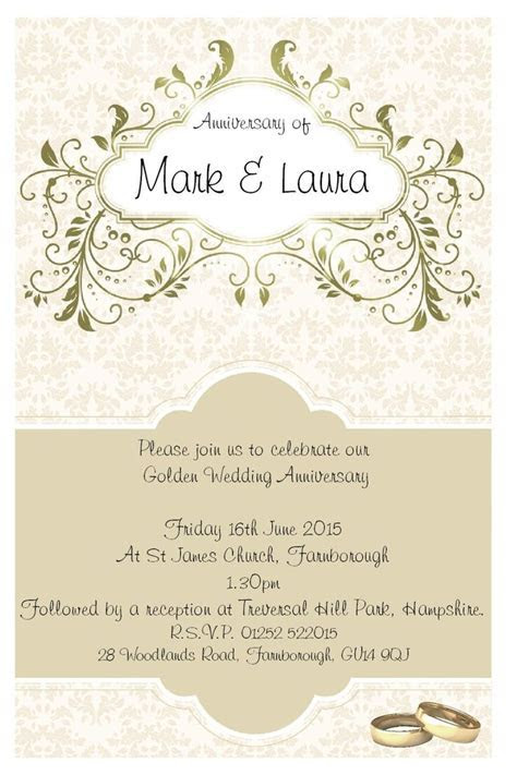 25  best ideas about Anniversary Party Invitations on