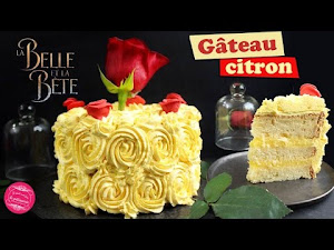 Gâteau princesse la Belle et la Bête {Rose cake Disney}