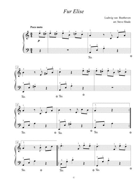 Fur Elise Easy Piano Music Sheet Download Topmusicsheet Com