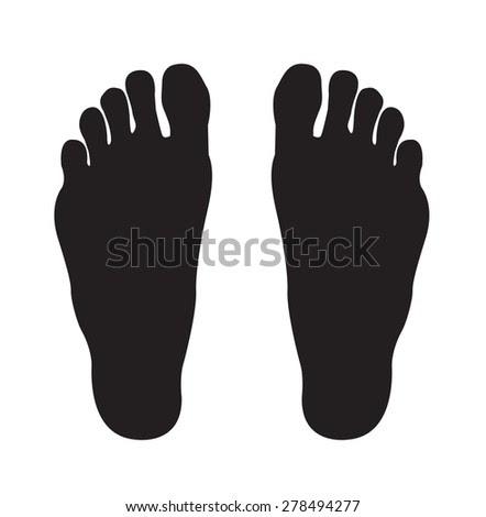 Two Footprints Silhouette. Editable Eps10 Illustration ...