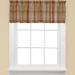 Saturday Knight Cooper Curtain Valance; Red