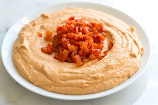 Roasted Red Pepper Hummus Recipe