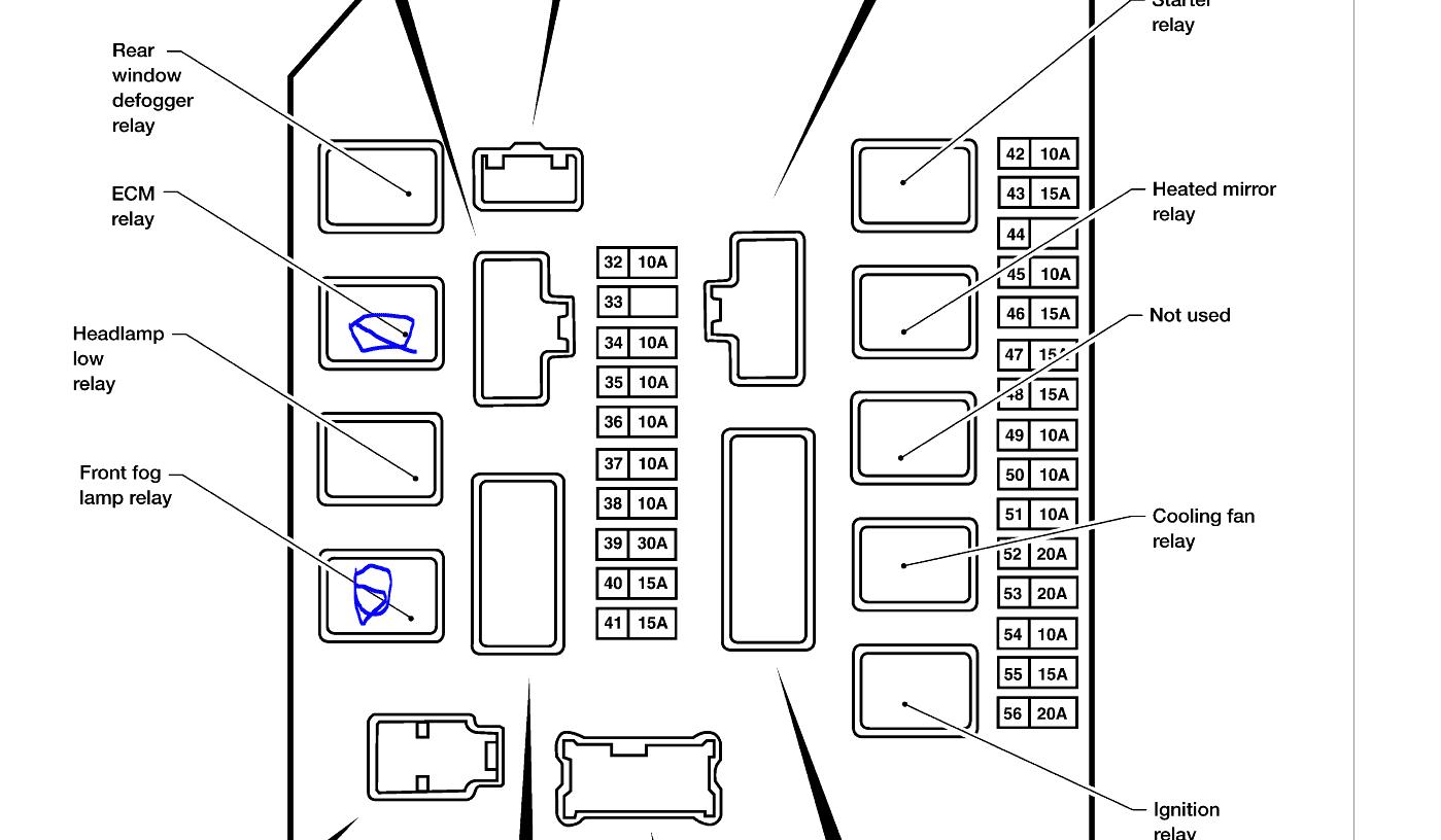 2009 Nissan Versa Fuse Box Diagram