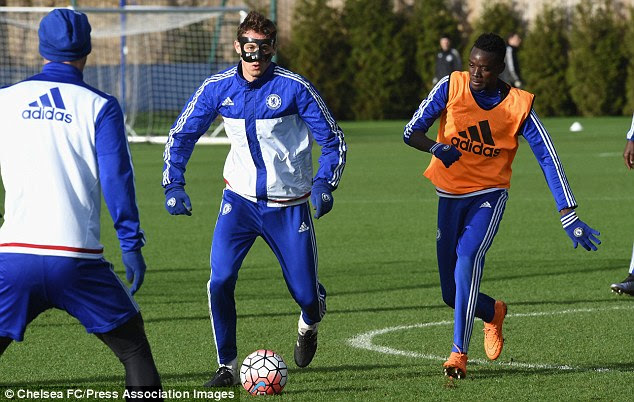 Nemanja Matic (centre) missed Sunday's FA Cup clash due to a training ground injury sustained last Saturday