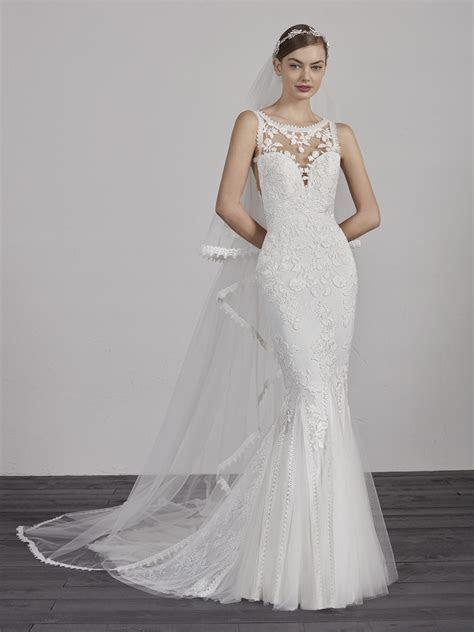 Mermaid wedding dress with double sweetheart neckline