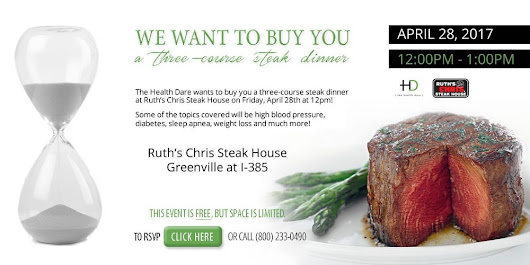 Ruth's Chris Steak House Greenville at I-385, SC - The Health Dare - RSVP Only