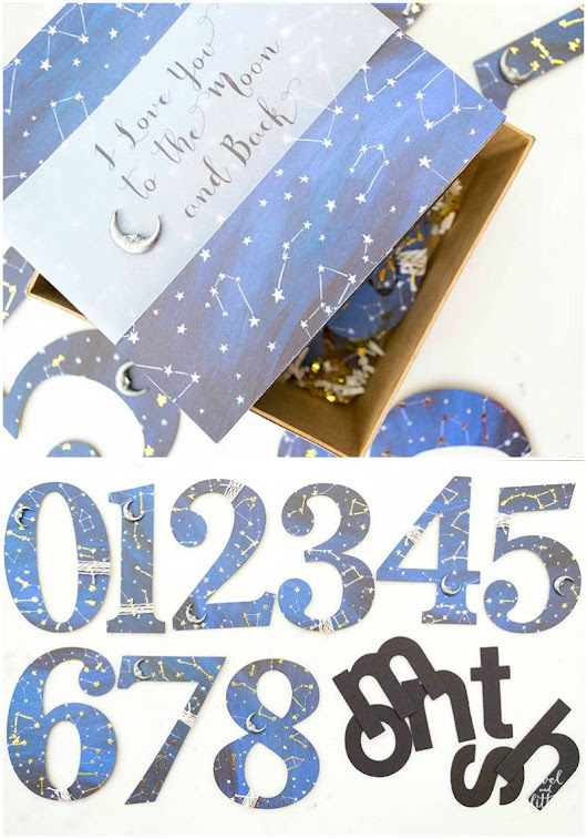 DIY Baby Monthly Milestone Numbers - Revel and Glitter
