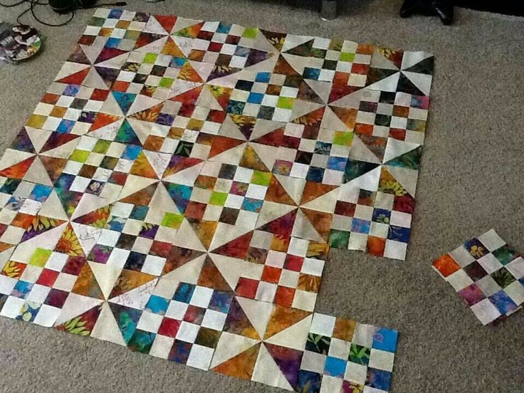 Beautiful 2 Block Quilt by Rhianon Taylor!