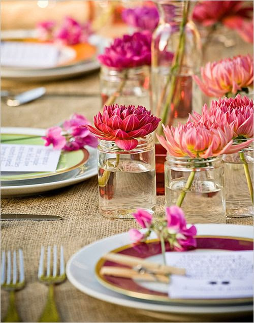 Bright colors are perfect for summer decor. #summerweddings