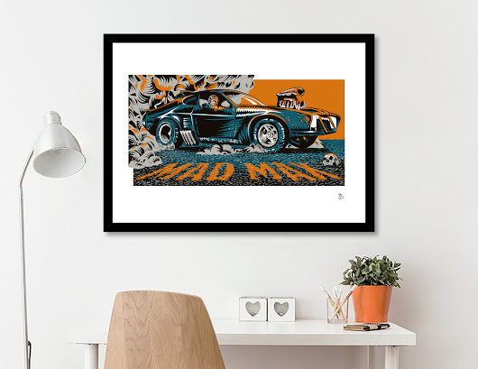 «Mad Max Movie Poster», Limited Edition Fine Art Print by Francesco Dibattista - From 27€ - Curioos
