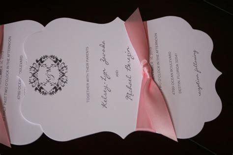 Die Cut Wedding Invitations   Too Chic & Little Shab