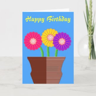 Birthday Boquet Greeting Card card