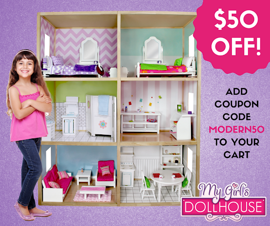 HOT deal - save $50 Off My Girl's Dollhouse