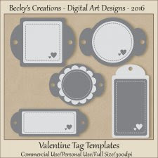 Valentine Tag Templates-FS-CU-PSD-PNG-Beckys Creations