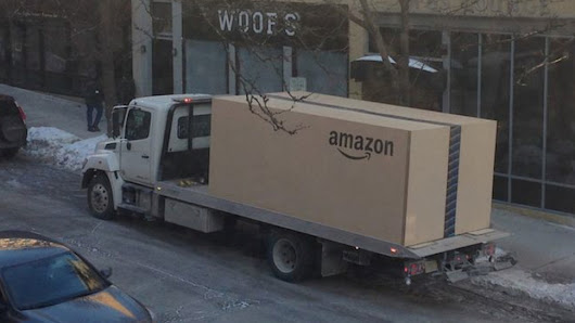 What Amazon Delivered In This Giant Flatbed-Sized Box