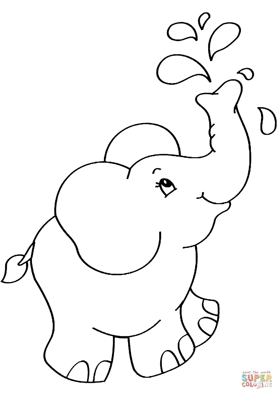 Dibujo De Elefante De Dibujos Animados Para Colorear Dibujos Para