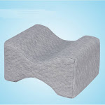 Memory Foam Knee Pillow Orthopedic Wedge Contour Sleeping Knee Pillow For Sciatica Relief Back Leg Pain Pregnancy Joint Pain-Gray Standard