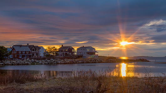 Goosefare Brook Sunrise - Saco Maine by Kirkodd Photography Of New England