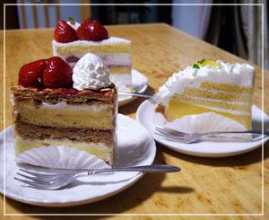 ばぼーんとしたケーキが恋しくて、デパ地下右往左往した結果の
