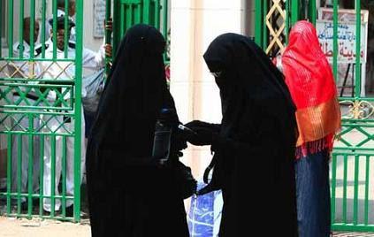 Kuwait women in burqas