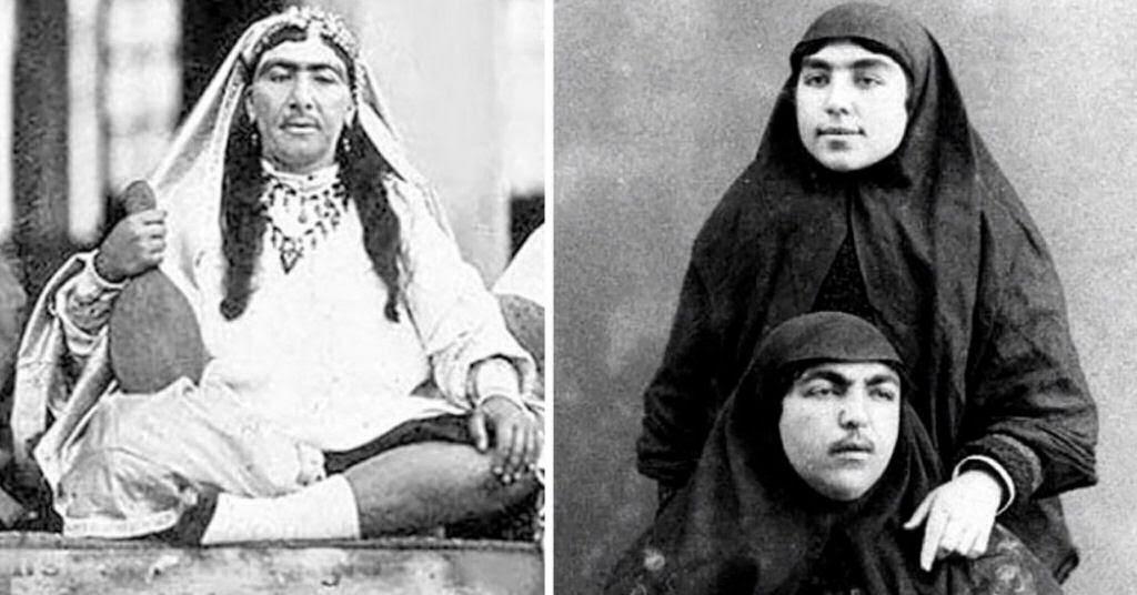 Assim eram as 100 concubinas do harém do Xá de Pérsia no Século XIX