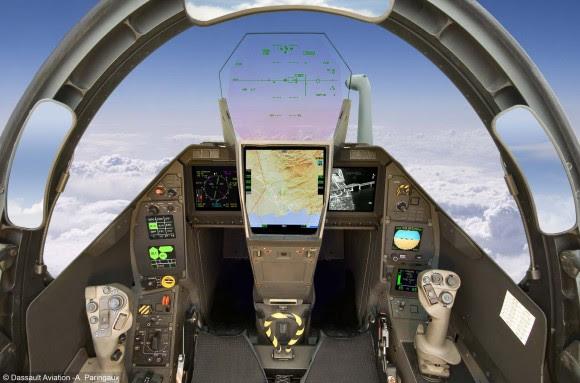 Rafale - painel - foto A Paringaux - Dassault