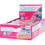 QuestBar Protein Bar Birthday Cake - 12 count