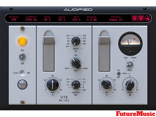 Audified Releases U78 Saturator Plug-In | FutureMusic the latest news on future music technology DJ gear producing dance music edm and everything electronic
