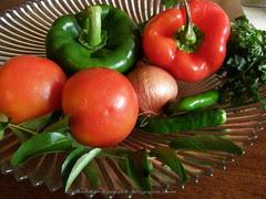 Capsicum & Tomato Dip - ingredients