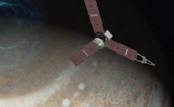La sonda Juno en órbita de Júpiter (NASA).