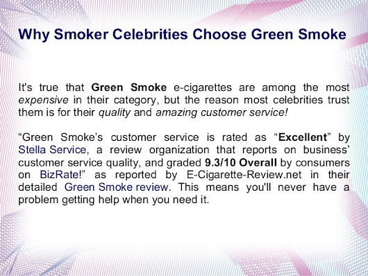 Electronic Cigarette Green Smoke Review & Coupon