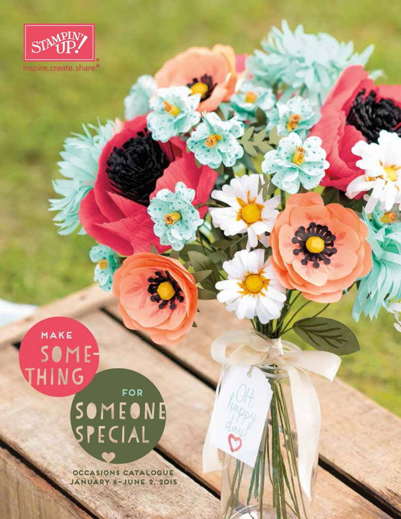 stampin up occasions catalogue cover 2015