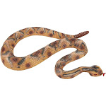 Realistic Fake Rattlesnake - Rubber Snake - Perfect For Halloween Decorations, Pranks Or As Squirrel Repellent -Multicolored, 47 X 1.5 X 2 Inches