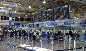 The Check-in desks at Athens International Airport