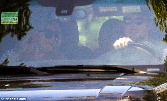 'So grateful': Jessica was last pictured going for a drive with Eric Johnson in LA on Sunday