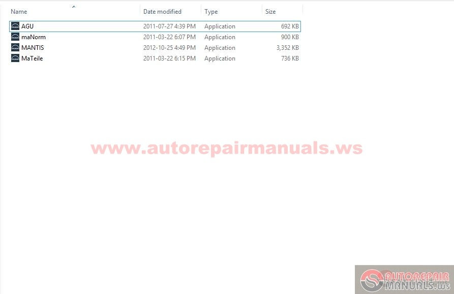 Keygen Autorepairmanuals.ws: Man Mantis 495 Patch for Win7