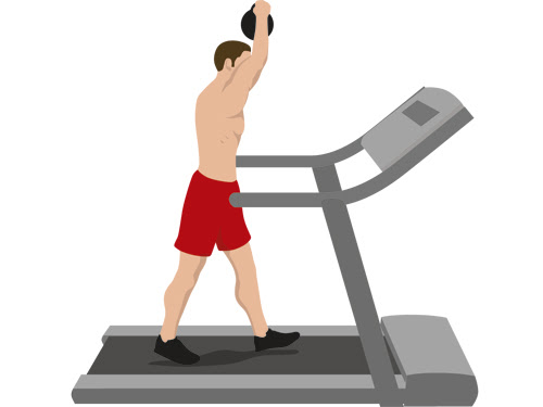Get stacked on the treadmill